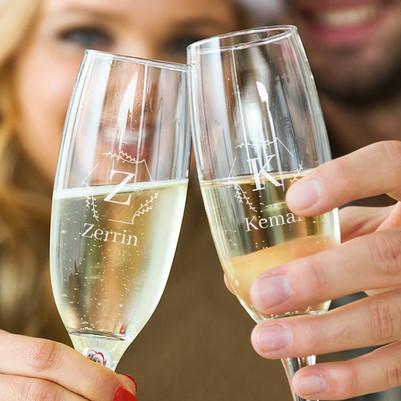 İsme Özel 2'li Şampanya Kadehi - Thumbnail