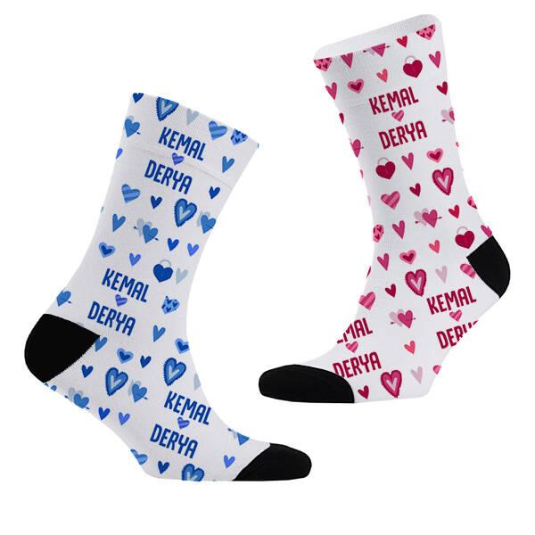 İsme Özel 2'li Sevgili Çorap Seti