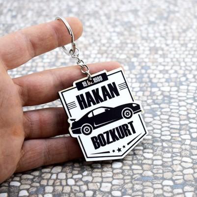 İsme Özel Araba Temalı Anahtarlık - Thumbnail