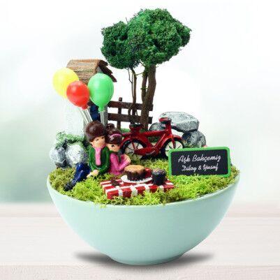 İsme Özel Aşk Bahçemiz Mini Bahçe - Thumbnail