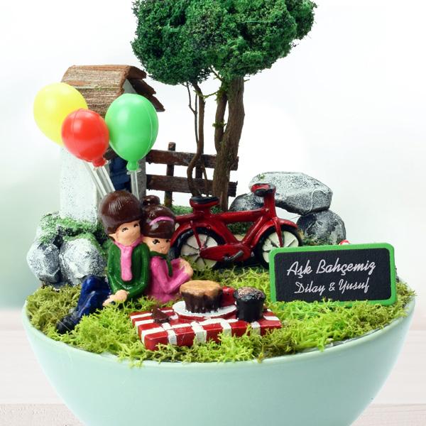 İsme Özel Aşk Bahçemiz Mini Bahçe