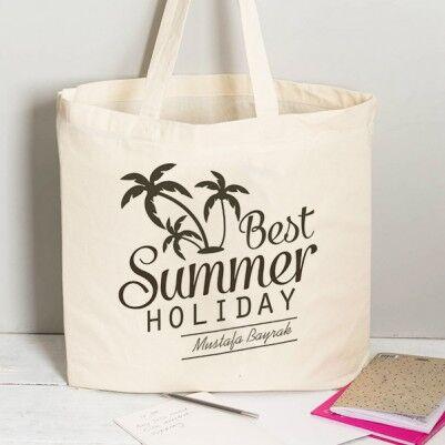 - İsme Özel Best Summer Holiday Plaj Çantası