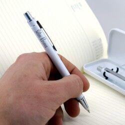 İsme Özel Beyaz Kutulu 2'li Kalem Seti - Thumbnail