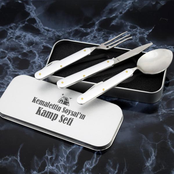 İsme Özel Çatal Bıçak Kaşık Seti