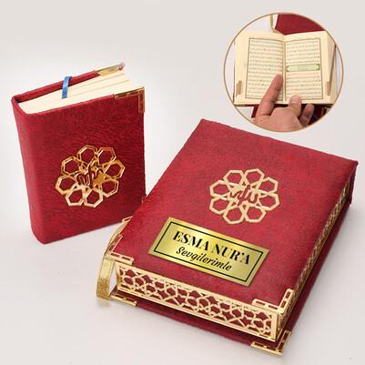 - İsme Özel Cep Boy Kuran-ı Kerim Kitabı