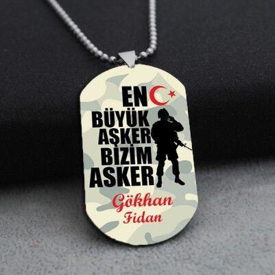 - İsme Özel En Büyük Asker Künyesi