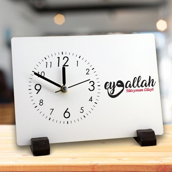 İsme Özel Eyvallah Yazılı Masa Saati