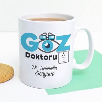 İsme Özel Göz Doktoru Kupa Bardak - Thumbnail
