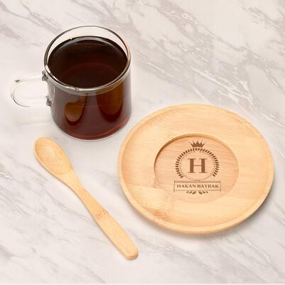 - İsme Özel Hediyelik Cam Çay Fincanı