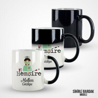 İsme Özel Hemşire Kahve Kupası - Thumbnail