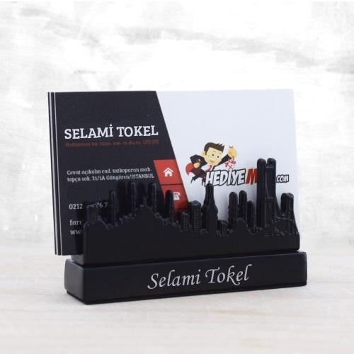 İsme Özel İstanbul Silueti Masaüstü Kartvizitlik