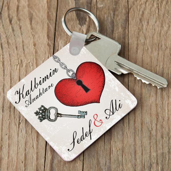 İsme Özel Kalbiminizin Anahtarı Anahtarlık