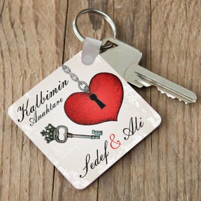 - İsme Özel Kalbiminizin Anahtarı Anahtarlık