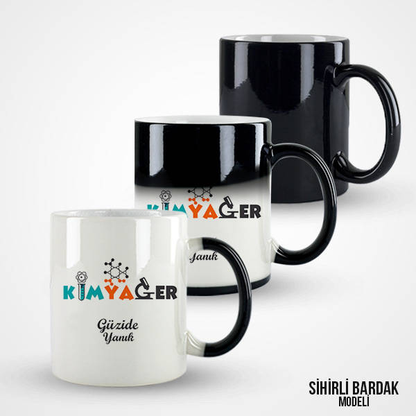 İsme Özel Kimyager Kahve Kupası