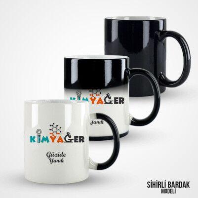 İsme Özel Kimyager Kahve Kupası - Thumbnail