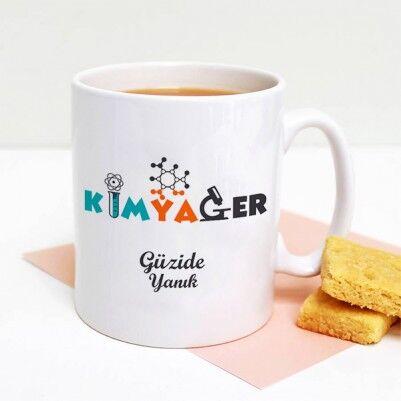 - İsme Özel Kimyager Kahve Kupası