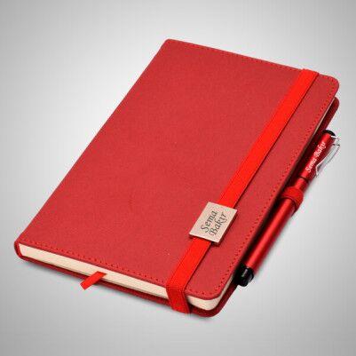 İsme Özel Kırmızı Defter ve Kalem Seti - Thumbnail
