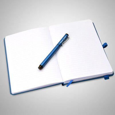 İsme Özel Mavi Defter ve Kalem Seti - Thumbnail