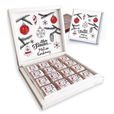 - İsme Özel Mesajlı Yılbaşı Çikolataları