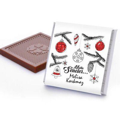 İsme Özel Mesajlı Yılbaşı Çikolataları - Thumbnail