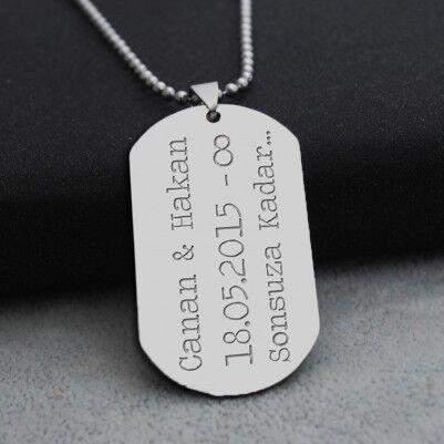 - İsme Özel Metal Asker Künyesi