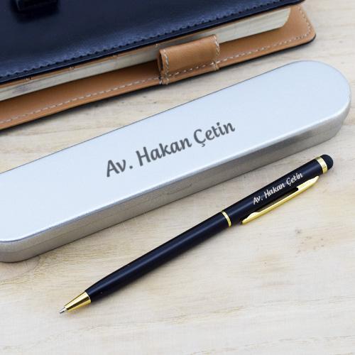 İsme Özel Metal Kutulu Tükenmez Kalem