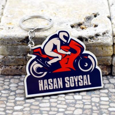 İsme Özel Motosiklet Anahtarlık - Thumbnail