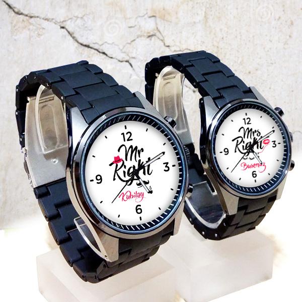İsme Özel Mr And Mrs Right Kol Saatleri