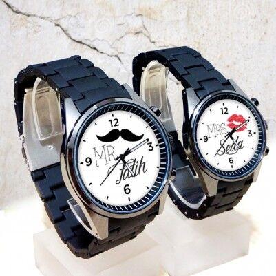 - İsme Özel Mr & Mrs. Sevgili Kol Saatleri
