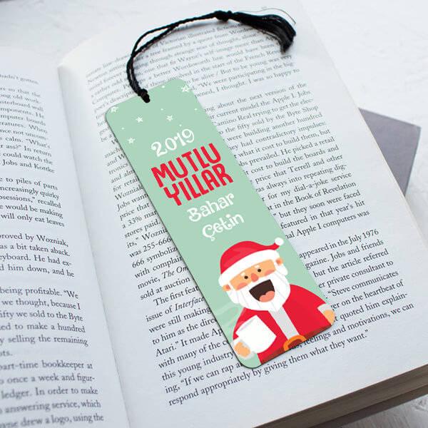 İsme Özel Noel Baba Kitap Ayracı