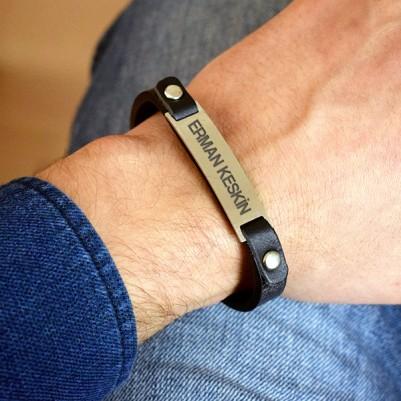 İsme Özel Paslanmaz Çelikten Bileklik - Thumbnail