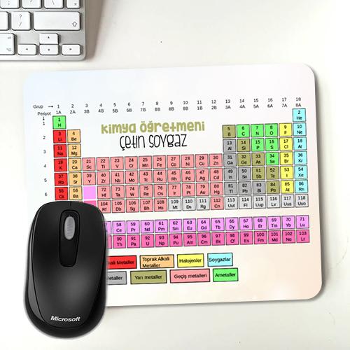 İsme Özel Periyodik Cetvel Mousepad
