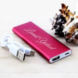İsme Özel Powerbank - Şarj Cihazı Kırmızı