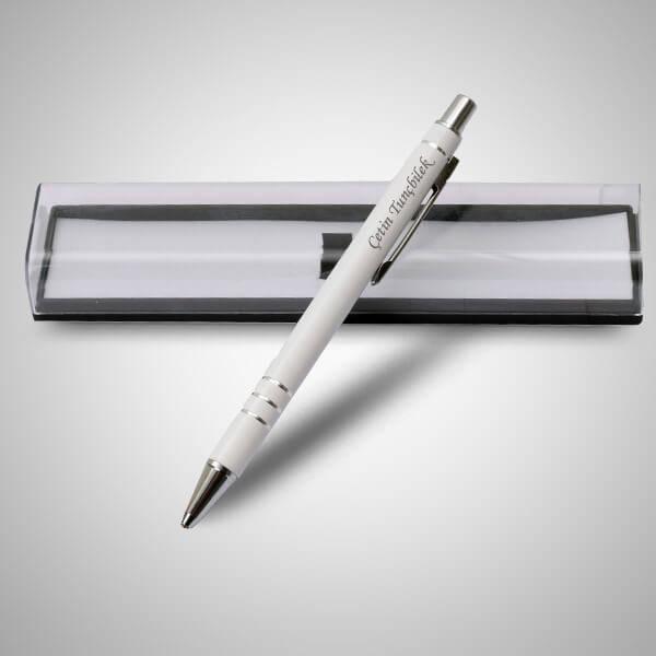 İsme Özel Şeffaf Kutuda Beyaz Kalem