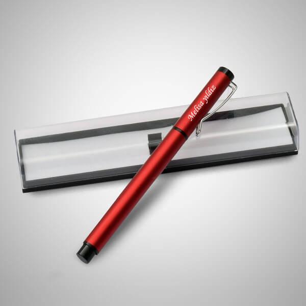 İsme Özel Şeffaf Kutuda Kırmızı Kalem