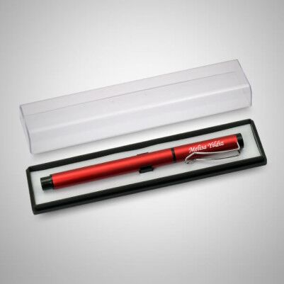İsme Özel Şeffaf Kutuda Kırmızı Kalem - Thumbnail