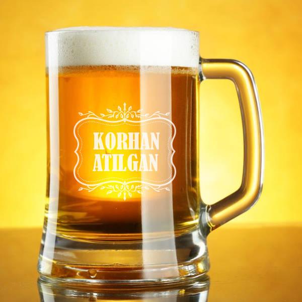 İsme Özel Şık Bira Bardağı