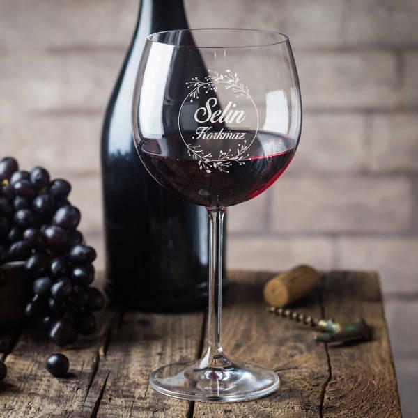 İsme Özel Şık Şarap Kadehi