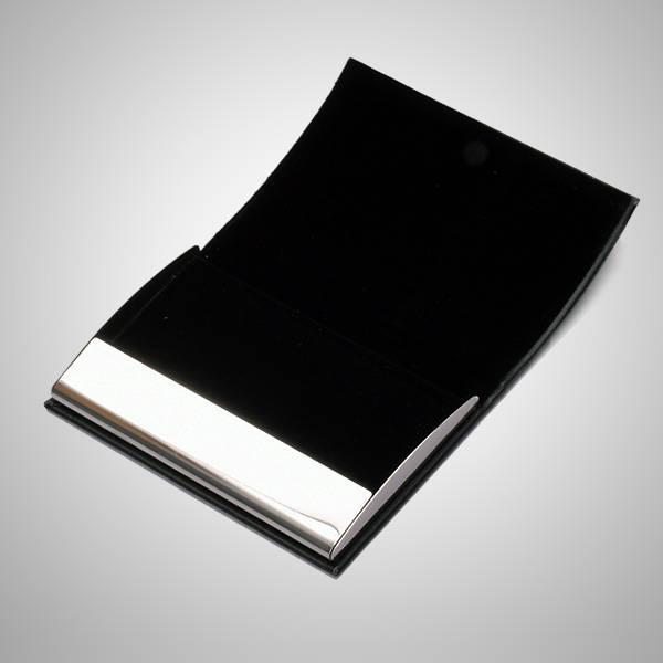İsme Özel Siyah Deri Kartvizitlik