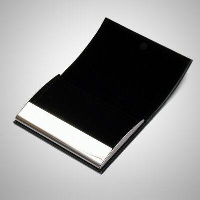 İsme Özel Siyah Deri Kartvizitlik - Thumbnail