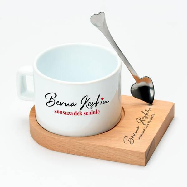 İsme Özel Sonsuza Dek Seninle Çay Fincanı
