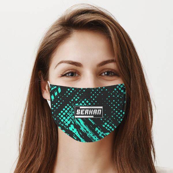 İsme Özel Tasarım Ağız Maskesi