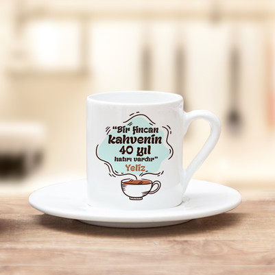 - İsme Özel Tasarım Kahve Fincanı