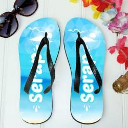 - İsme Özel Tatil Havası Plaj Terliği