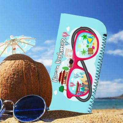 İsme Özel Tatilci Güneş Gözlüğü Kılıfı - Thumbnail
