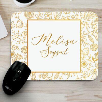 - İsme Özel Zarif Tasarımlı Mousepad