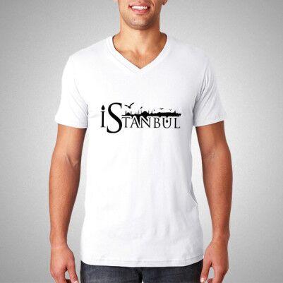 - İstanbul Baskılı Erkek Tişörtü