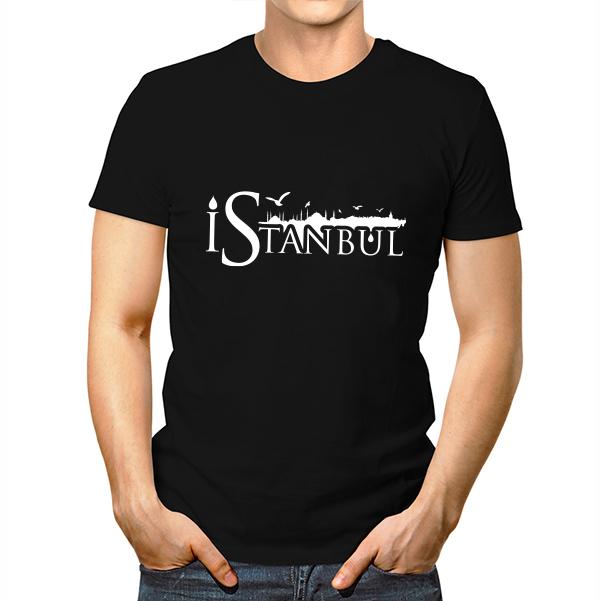 İstanbul Baskılı Erkek Tişörtü