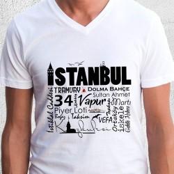 İstanbul Benim Herşeyim Erkek Tişörtü - Thumbnail
