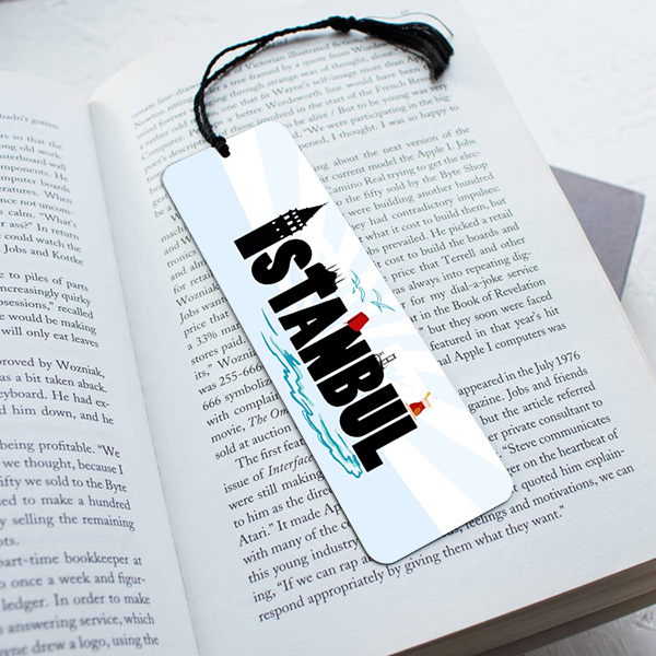 İstanbul Silüeti Temalı Kitap Ayracı